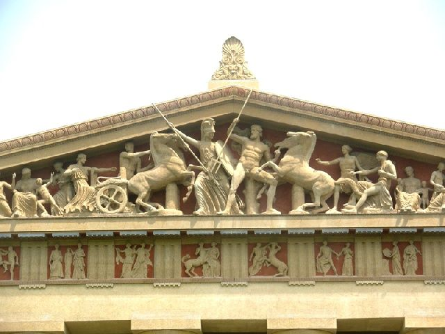 Ancient greek architecture contest between athena and
