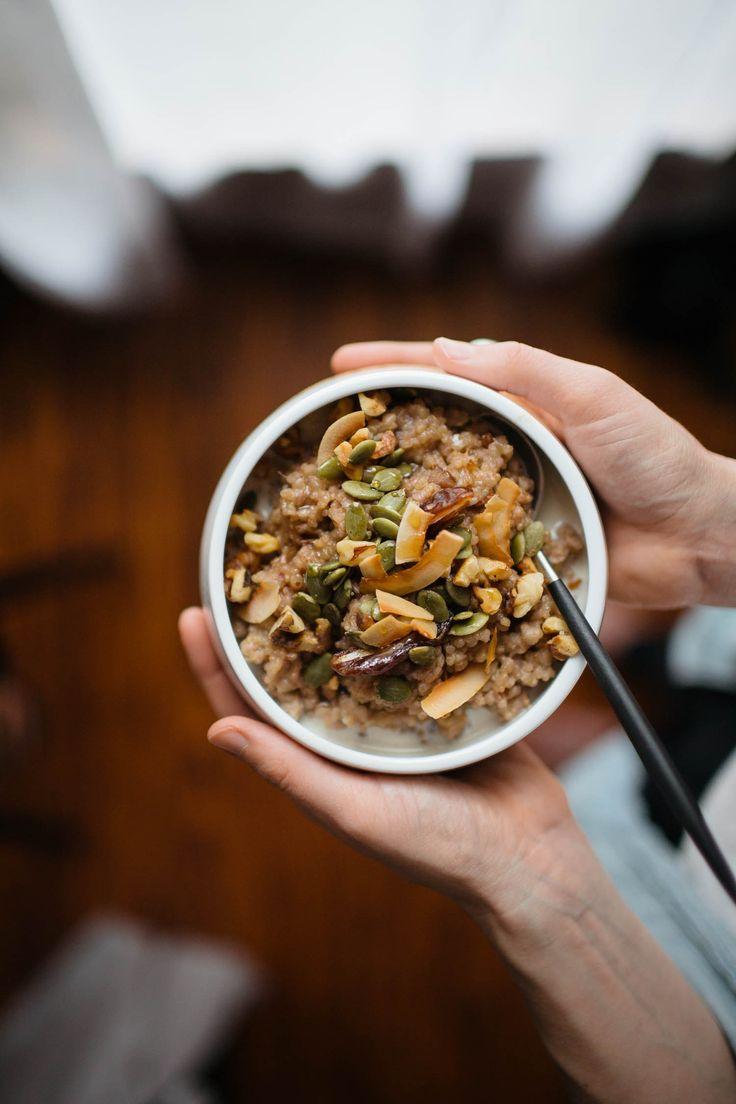 Two-Grain Coconut Date Porridge