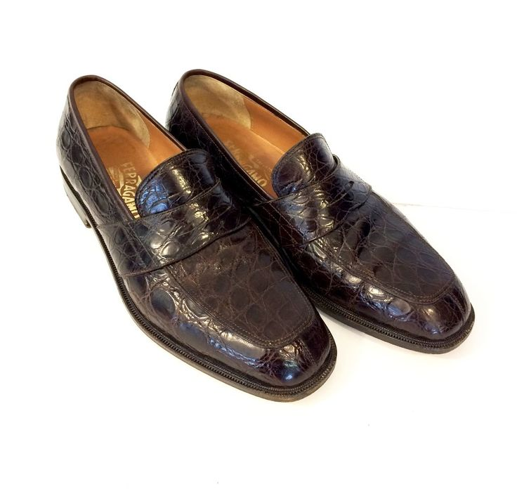 Salvatore Ferragamo Men's Alligator Loafer Shoes