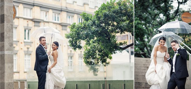 Wedding day on a rainy day, how to get amazing photos even if on a wet day. Cool idea with umbrellas! Wild and Grace | Urban Auckland City Wedding photography #weddingrainyday #weddingphotography #weddingidea #umbrellawedding
