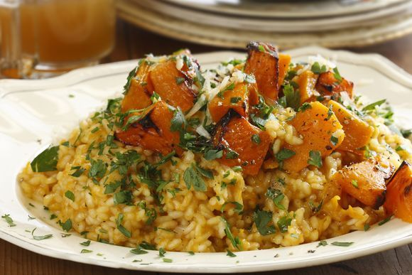 Maggie Beer's Pumpkin, Verjuice and Extra Virgin Olive Oil Risotto