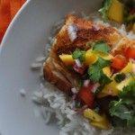 Blackened Cod with Mango Salsa
