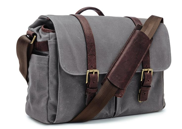 ONA   The Brixton - Smoke - Camera and laptop messenger bags