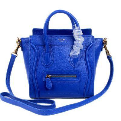 Celine Boston Dark Blue Leather Bags
