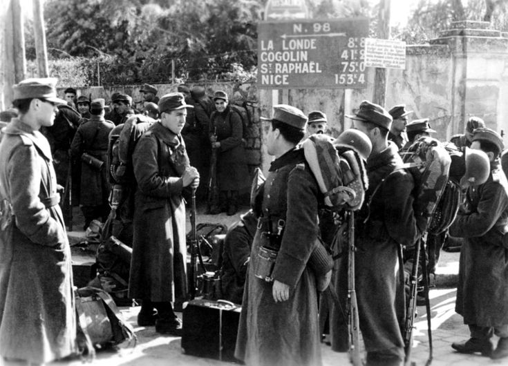 Armenian soldiers of the German Wehrmacht's Armenische Legion (Armenian Legion) arrive in the south of France to strengthen the coastal defenses on the Mediterranean. Approximately 33,000 Armenian men served in German field battalions, while another 7,000 served in logistical and other non-combat units.