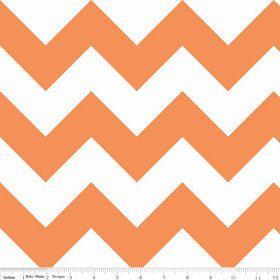 Large Chevron Fabric  Orange  Riley Blake  by StashModernFabric, $4.75