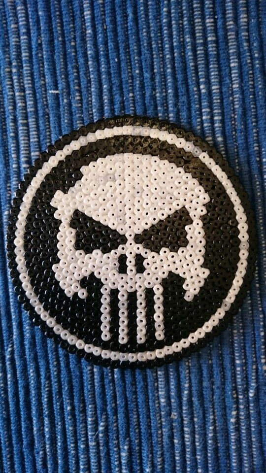 The Punisher hama beads by Alejandro Bonilla Guervos
