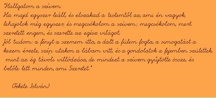 Fekete István idézet