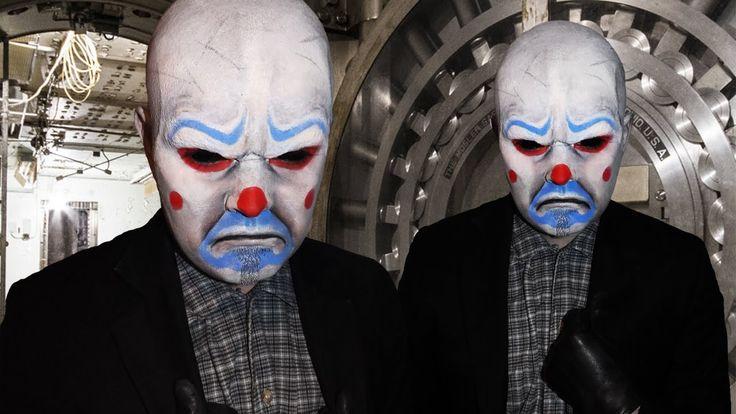 Joker Bank Robber Mask - Dark Knight - Makeup Tutorial!