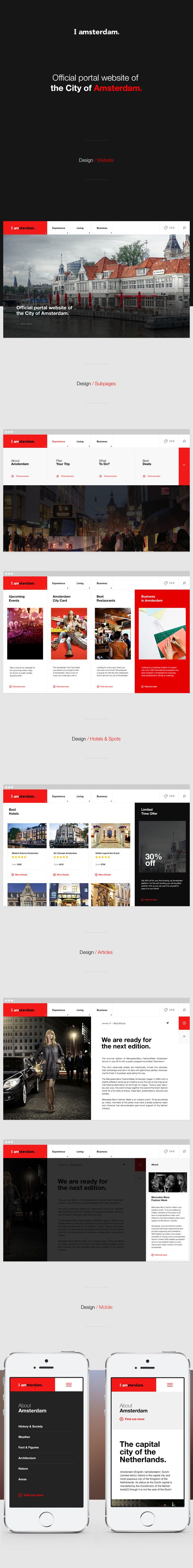 IAmsterdam UI | Abduzeedo Design Inspiration