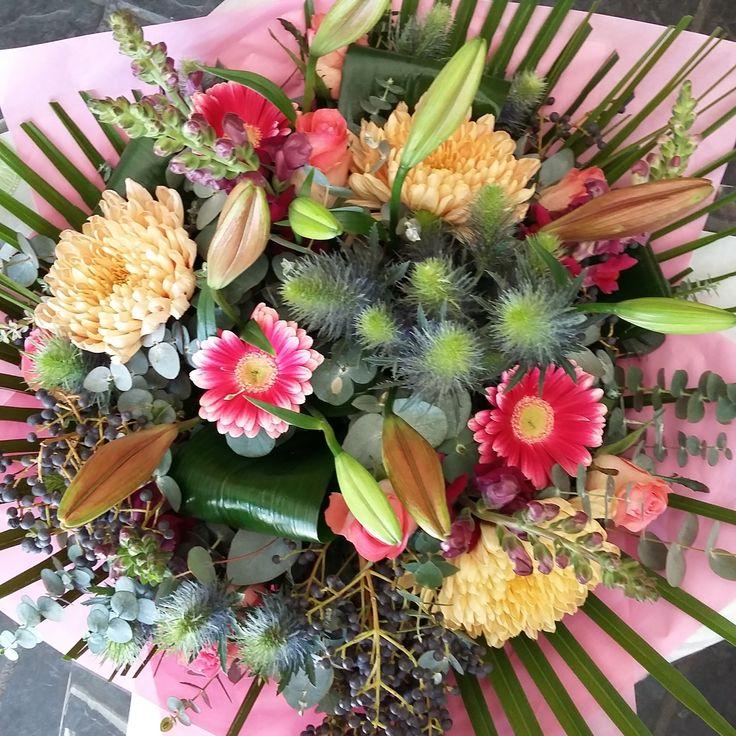 Flowers cure winter-blues! #pinks #purples #lilies #roses #berries #designerflowers #flowers