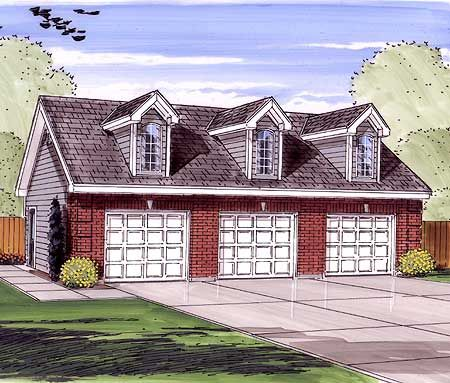 3 Car Garage With 3 Dormers House Pinterest