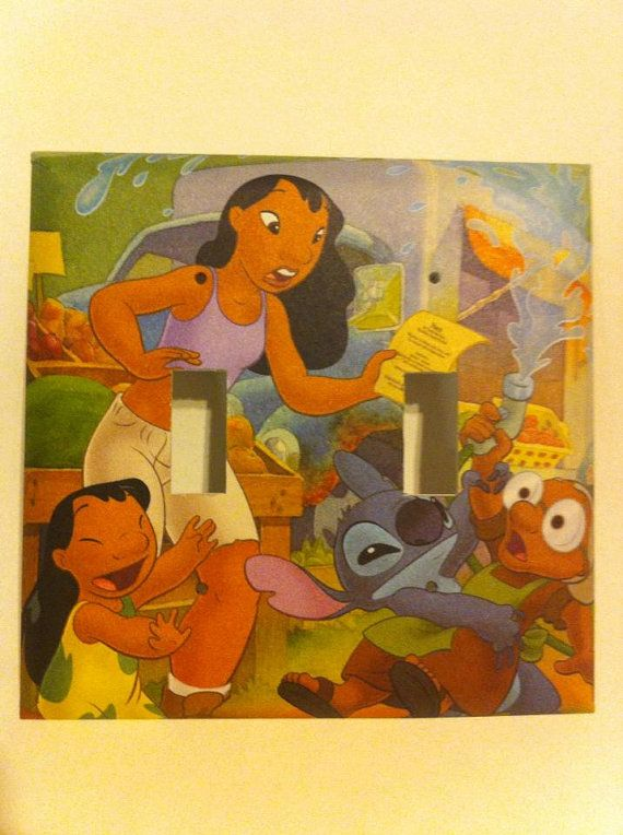 Lilo and Stitch Double Pronged Light Switch Cover