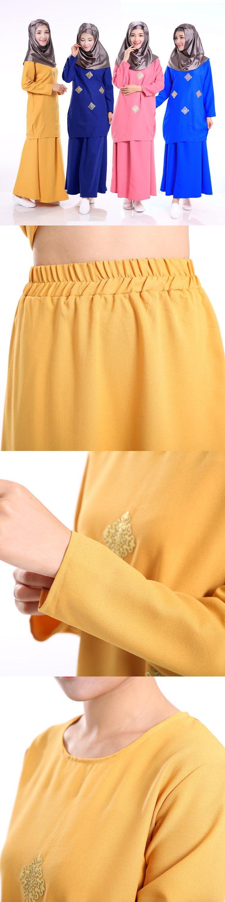 Muslim Fashion Sets prayer Sun hemp Skirt pants islamitische islami summer dress Arab for woman dubai girls Iran clothing Oman