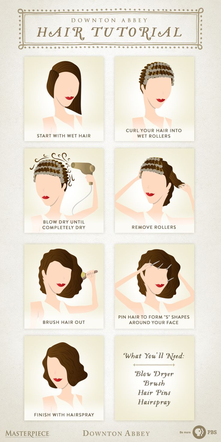 You'll fit right in with the women of Downton Abbey. Follow this easy hair tutorial to achieve your very own 1920s vintage hairstyle. All you need is a blow dryer, brush, hair pins, and hairspray. Beauty like this never goes out of style. | As seen on Masterpiece PBS.