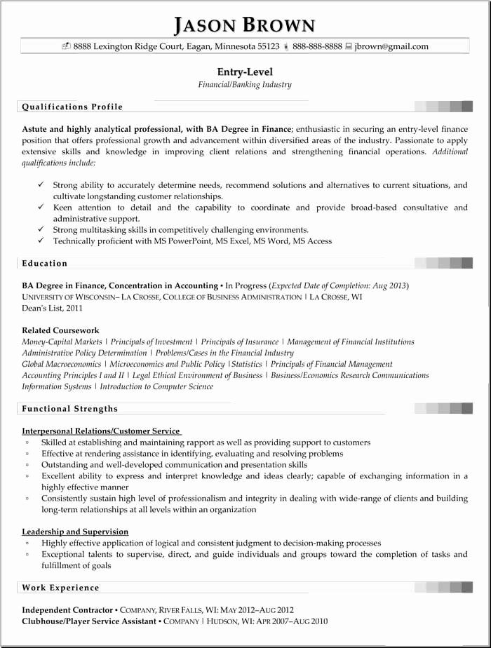 √ 25 entry level business analyst resume in 2020