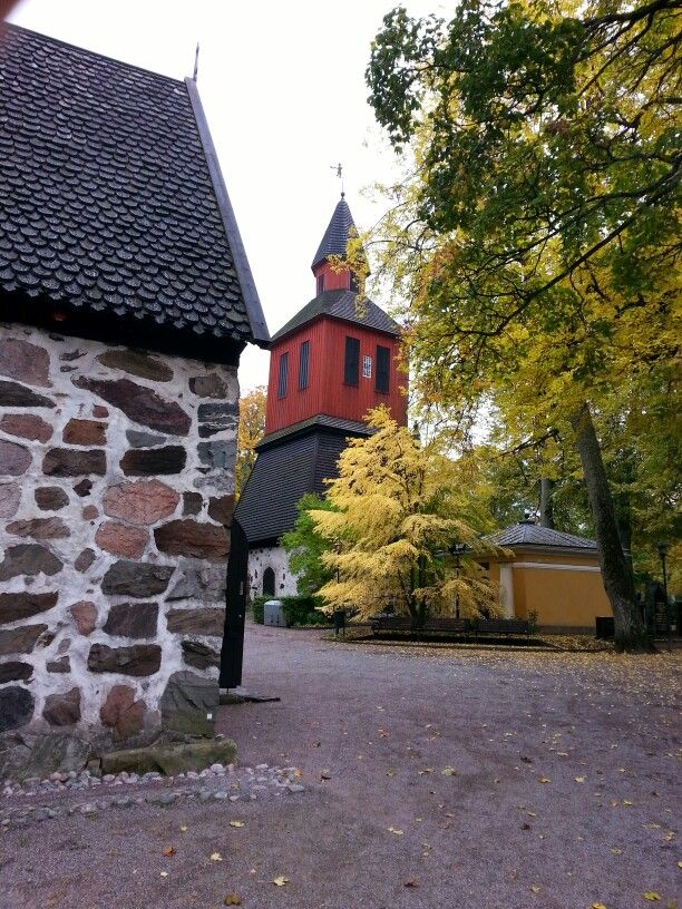 The belfry in the churchyard, Lohja . Picture : Jaana Perheentupa