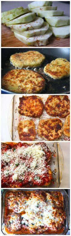 Eggplant Parmesan-Cook min 30 minutes, make sure eggplant is cooked. Don't use Russian eggplant