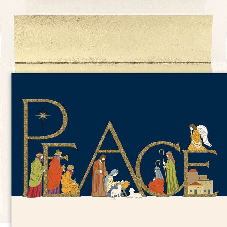 MyCards4Less - Peaceful Night Religious Christmas Card, $16.00 (http://www.mycards4less.com/religious-christmas-cards/nativity-and-creche/peaceful-night-religious-christmas-cards/)