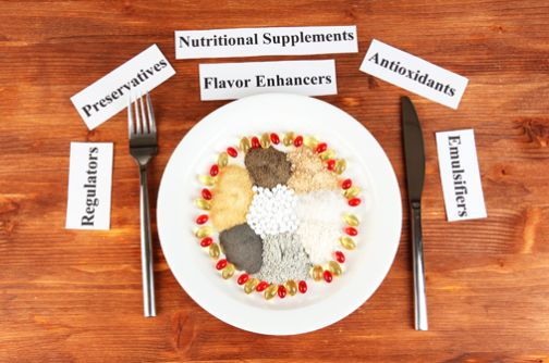 Read Labels. According to pediatrician, Dr. Alan Greene, be especially attentive to the top five risky additives:    1. Artificial Colors – anything that begins with FD (e.g. FD Blue No. 1)    2. Chemical Preservatives – Butylated Hydroxyanisole (BHA), Sodium Nitrate, Sodium  Benzoate    3. Artificial Sweeteners – Aspartame, Acesulfame-K, Saccharin    4. Added Sugar – High Fructose Corn Syrup (HFCS), Corn Syrup, Dextrose, etc    5. Added Salt – Look at the sodium content and choose foods...