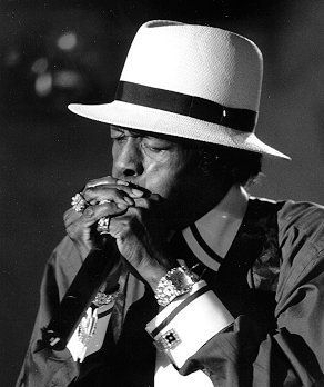 Junior Wells (1934-1998), born Amos Wells Blakemore Jr, was a Chicago blues vocalist, harmonica player and recording artist. Wells, who was best known for his performances and recordings with Muddy Waters, Earl Hooker, and Buddy Guy, also performed with Bonnie Raitt, The Rolling Stones, and Van Morrison.
