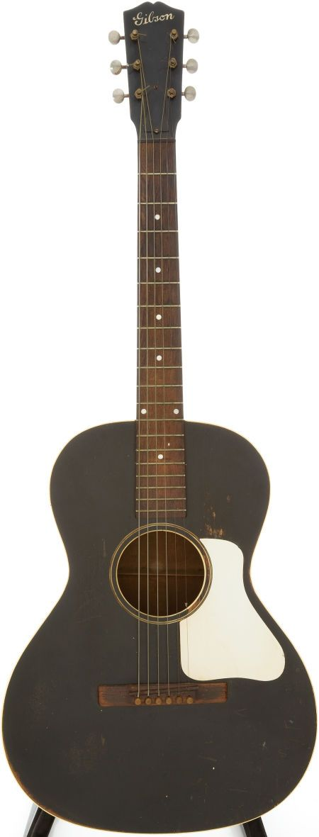 Late 1930s #Gibson L-0 Black Acoustic Guitar. #heritageauction