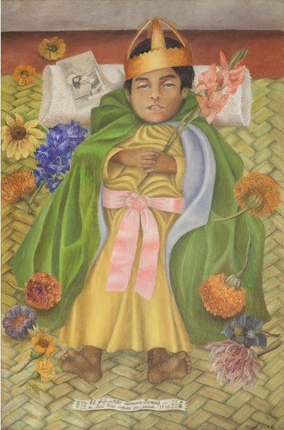 """""""Dimas morto"""" 1937  Dimension: 31 x 48 cm  Museo Dolores Olmedo, Città del Messico"""