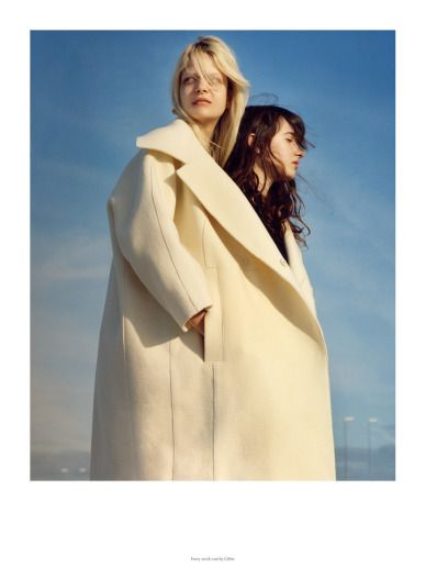 "ACNE Paper / photo by Jamie Hawkesworth, models - Caroline Schurch, Lussi Stankieva and Alice Pasche in ""Hit the Road to Dreamland"""