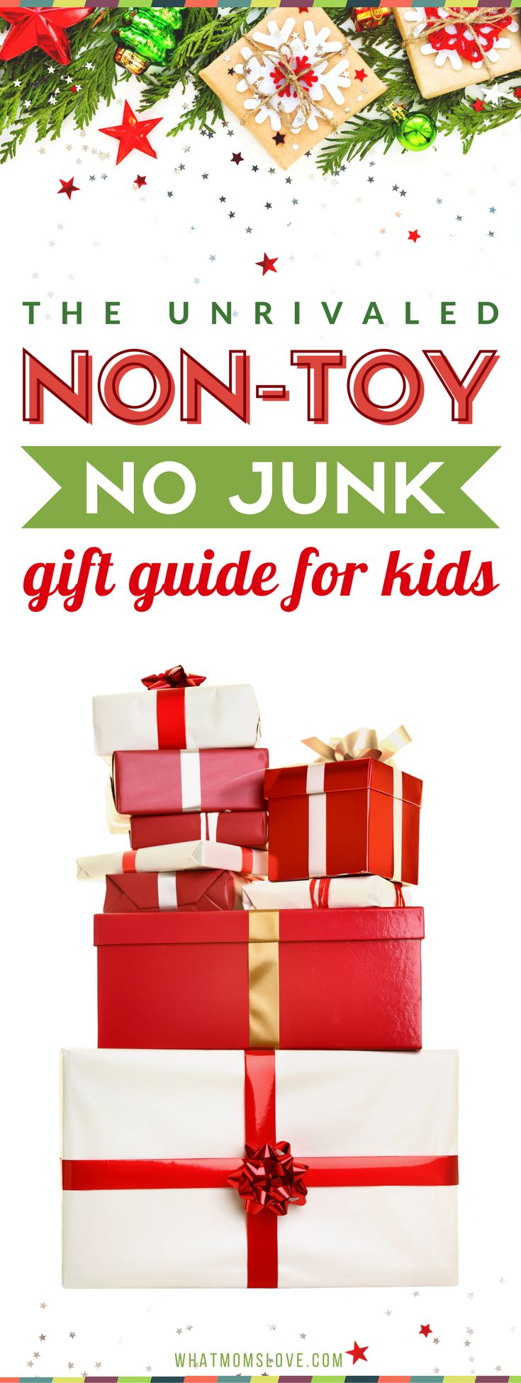 Best non toy gifts for kids | Fun ideas for boys and girls of all ages - from babies, to 1 year olds to toddlers to tweens and teens. High quality, fun gifts that aren't toys - perfect for Christmas, the holidays and birthdays. #gift #giftguide #giftsforkids #christmas #birthday #presents #kids #toddler #tween #teen