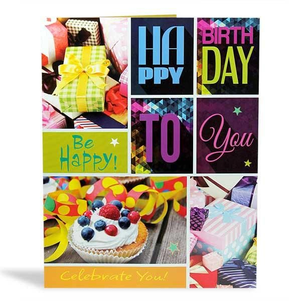 Best Jumbo Birthday Card Happy Birthday Be Happy to you celebrate you! Gifts and laughter candles and cake songs and surprises.and so many wishes to make..on this special day.may you have all the joy your heart can hold.and all the blessings your life can unfold,have a blast have a fun filled Birthday! ..  Card Size : 22.5 X 17.5 inch | Rs. 374 | Shop Now | https://hallmarkcards.co.in/collections/shop-all/products/happy-birthday-wishes
