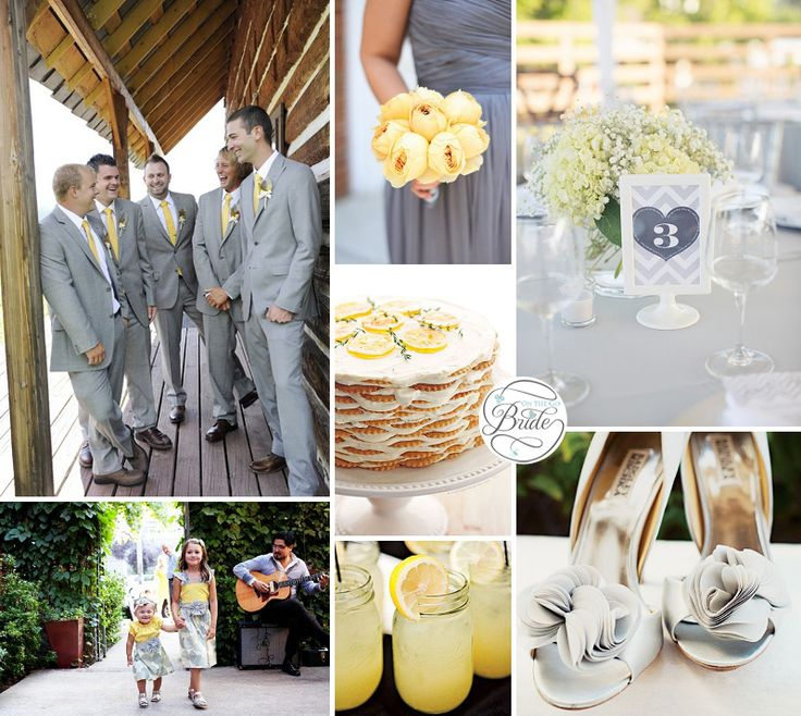 Yellow and Gray Wedding Inspiration via @onthegobride