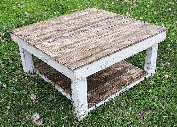 White Rustic Square Coffee Table Jonathan Steele - White rustic square coffee table
