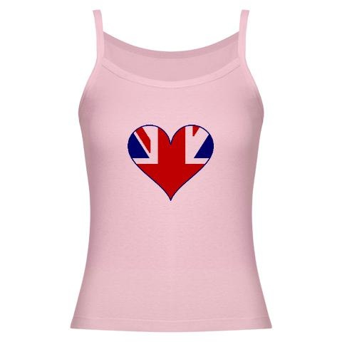Heart of the UK Jr. Spaghetti Tank $21.99    http://www.cafepress.com/britshop.623406710    Our spaghetti tank from American Apparel will keep you in style year round. Made of soft 100% superfine combed cotton baby rib, this tank provides the perfect silhouette.    - 5.8 oz. 100% Ultra-fine combed ring spun 1x1 baby rib cotton  - Size up for a looser fit  - ½ binding trim on straps and neck