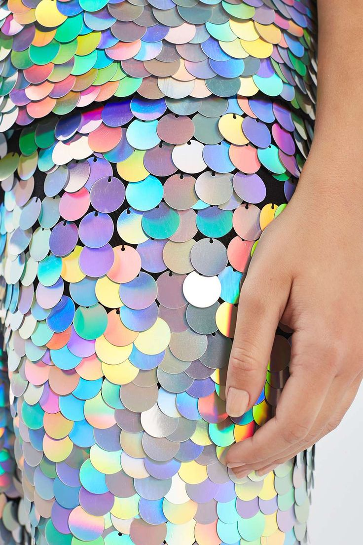 (Hologram Sequin Leggings by Rosa Bloom)  Idea for caliban - baggy clothes covered in an array of murky gold, green, grey sequins (scales)