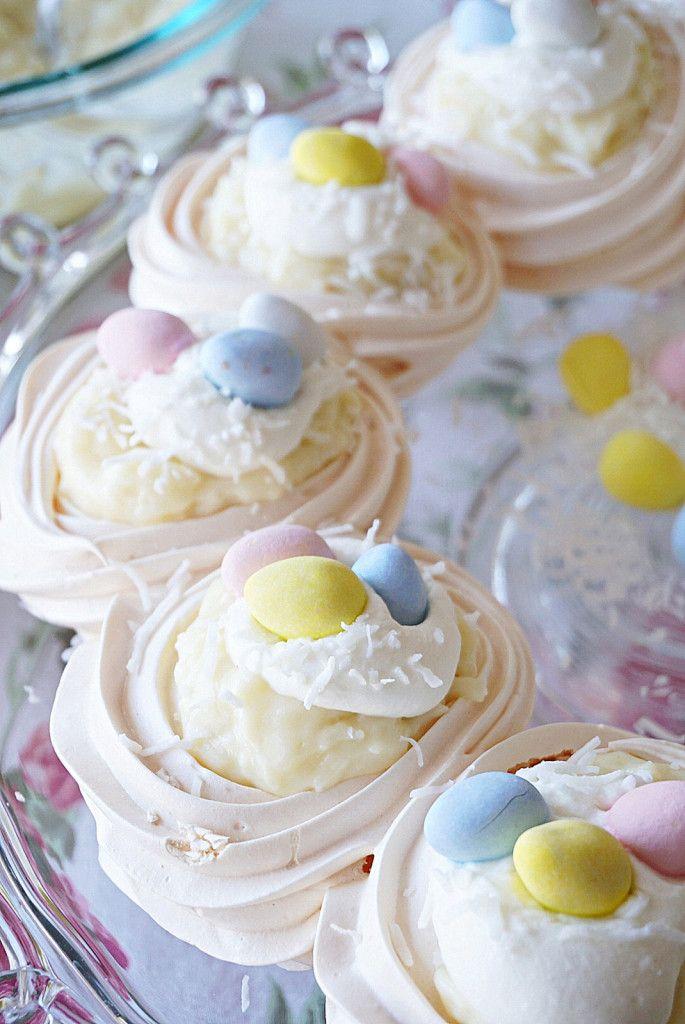 Coconut Cream Easter Pavlova - Gluten Free. www.BakingForFriends.com