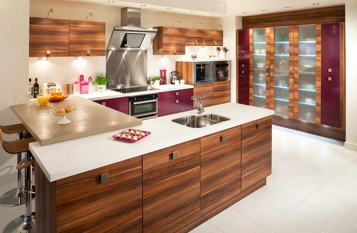 Phoenix Aubergine Kitchen
