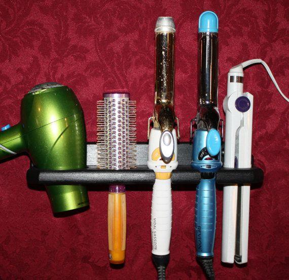 Hair Blow Dryer Curling Flat Iron Brush Specialty Appliance Shelf  Holder Bath Bathroom Organizer Salon USA  BDFCCB-E