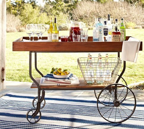 I am looking for a bar cart that does not hold wine bottles, wine belongs in a wine frig not on a cart.