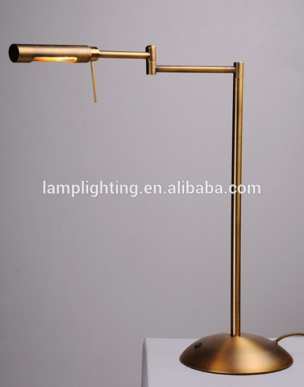 High quality adjustable gold LED reading table lamp