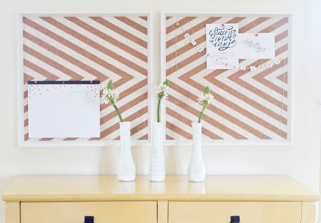 DIY tutorial to make your own cork board for organizing yourself this year!