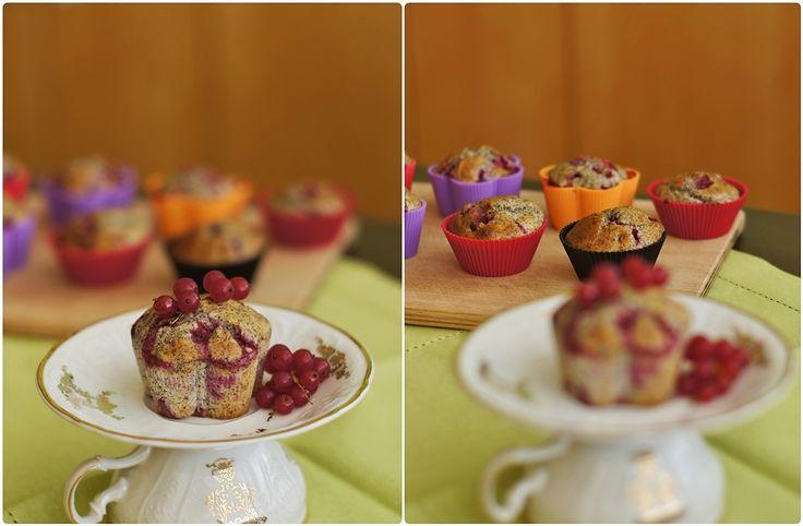 Pradobroty: Rybízovo-makové muffiny