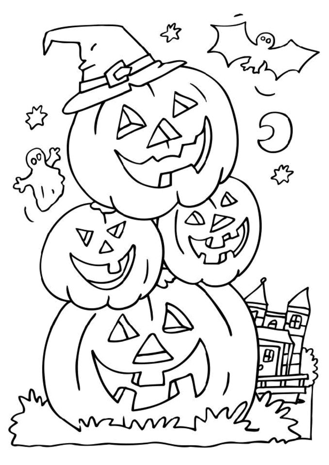 halloween colouring pages for kids to colour