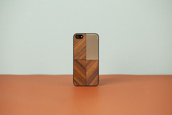 Wood'd cover iPhone 5 - Silver and Wood -