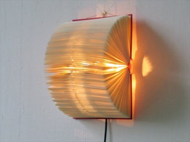 15 Amazing Diy Lamp Ideas Diy Lamp Shade Book Lamp Wall Lamp