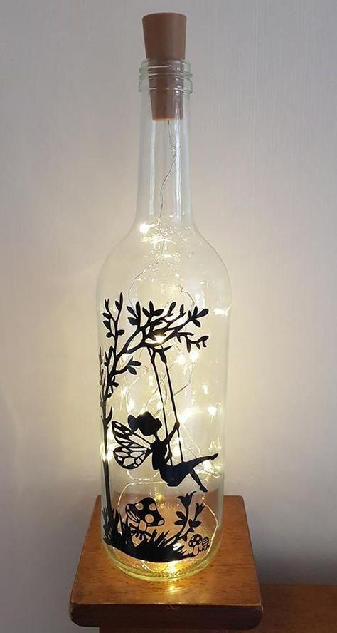 Cute Pixie Wine Bottle Gift For Girls Glass Bottle Crafts Diy Bottle Crafts Wine Bottle Diy Crafts
