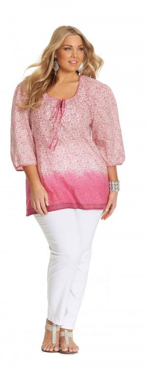 My Size Pretty In Pink Border Top