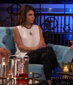 Bethenny Frankel's Real Housewives of New York Season 7 Reunion Embellished Pants, Top & More | http://www.bigblondehair.com/real-housewives/rhony/bethenny-frankels-season-7-reunion-embellished-pants-top-more/