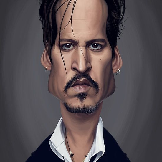 Johnny Depp art | decor | wall art | inspiration | caricature | home decor | idea | humor | gifts