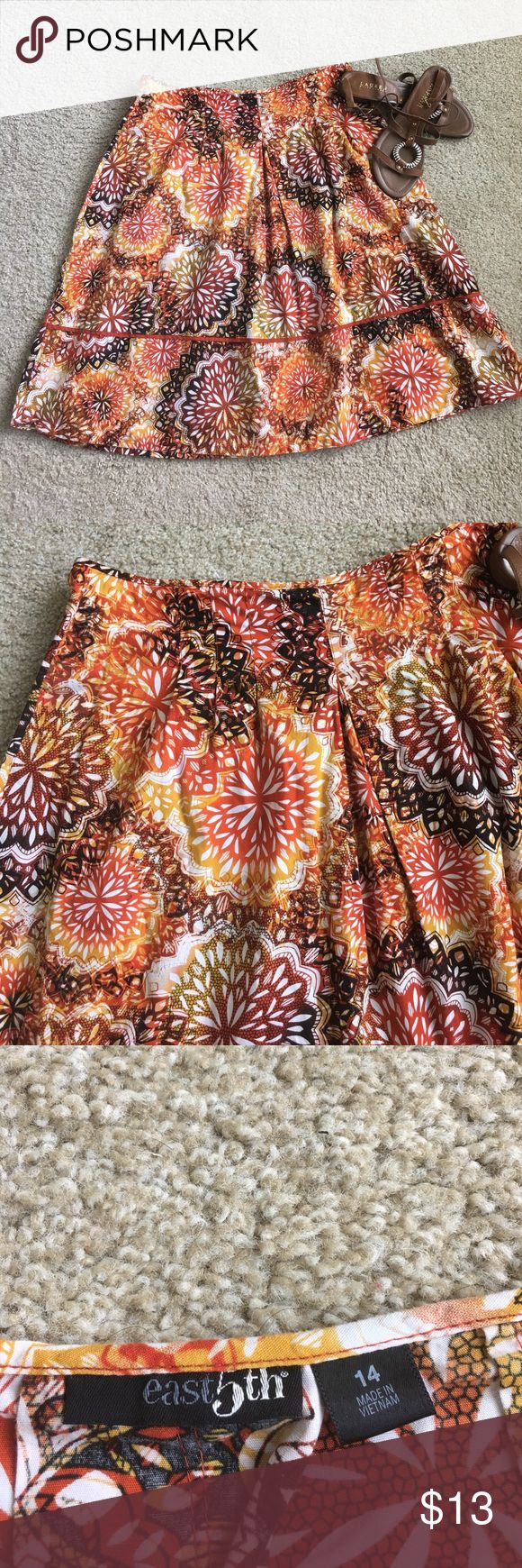 Like new Tribal print skirt Adorable skirt, in great condition. Cute Tribal print design, great for summer! Size 14. Bundle and save! East 5th Skirts A-Line or Full