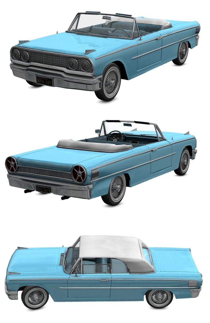 This is a 3d model inspired in the 1963 Ford Galaxy  It is modelled in wings3d and rendered in Poser.